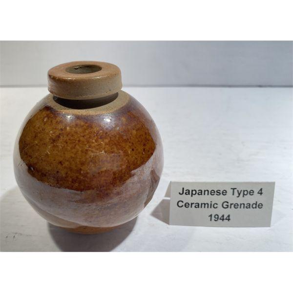 1944 JAPANESE TYPE 4 CERAMIC GRENADE