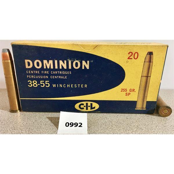 AMMO: 20X CIL 38-55 WIN 255GR SP