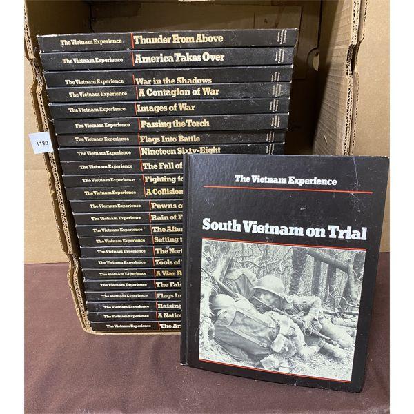 SET OF HARD COVER REFERENCE BOOKS - VIETNAM WAR - BOSTON PUBLISHING HOUSE