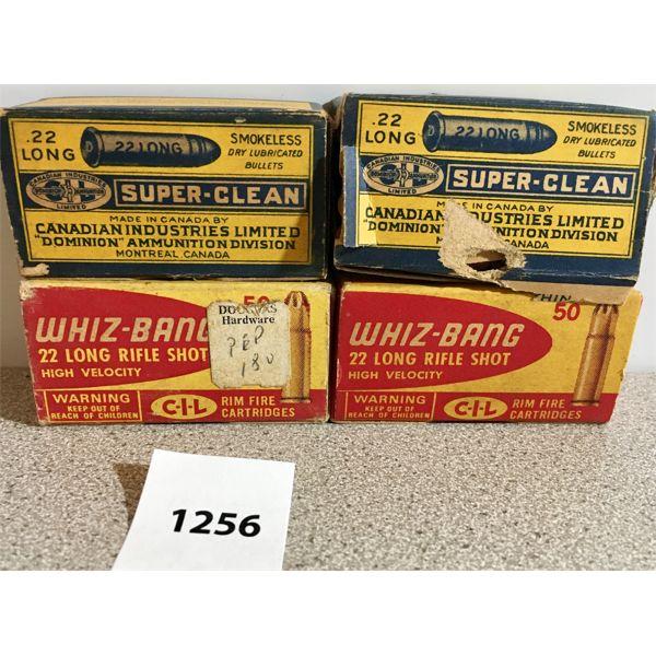 AMMO: 100X 22 LONG & 100X 22 LR RIFLE SHOT