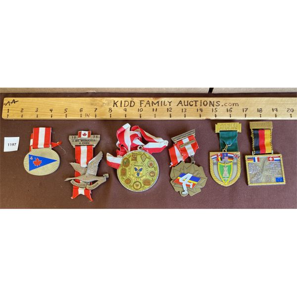 LOT OF 6 - GERMAN / CND MARCH MEDALS - 1970-80