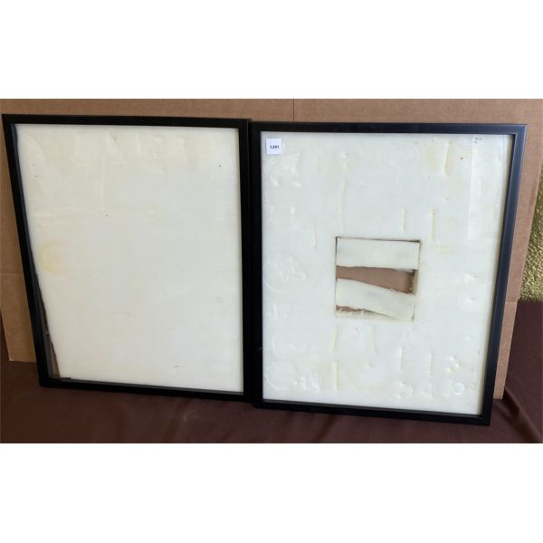 LOT OF 2 DISPLAY CASES - APPROX 16.5 X 21 INCHES