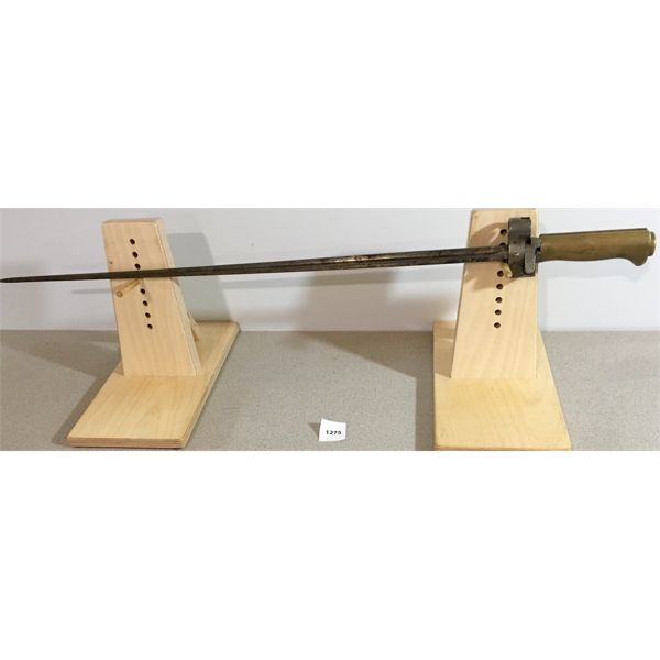 """20"""" T-SHAPED BLADE BAYONET WITH BRASS GRIP"""