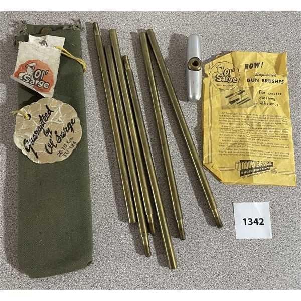 'OL' SARGE' CLEANING KIT WITH ORIG HANG TAGS & PAPERS
