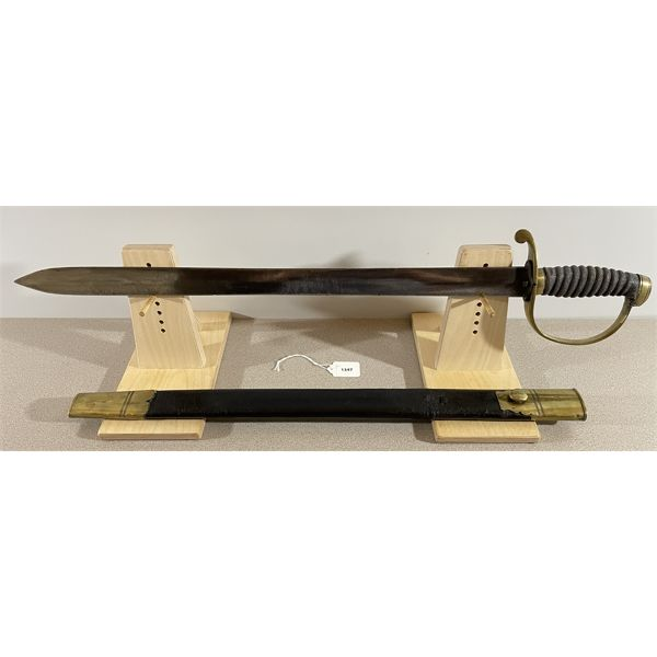 """POLICE SHORT SWORD- BERKSHIRE C.1850- 23"""" STRIAGHT DOUBLE SIDED BLADE"""