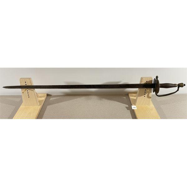 "BRITISH P.1796 INFANTRY SERGEANTS SWORD- 32"" SINGLE SIDED BLADE"