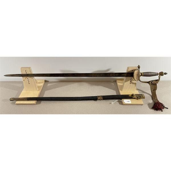 "BRITISH P.1796 LINE INFANTRY OFFICERS SWORD- 32"" BLADE"