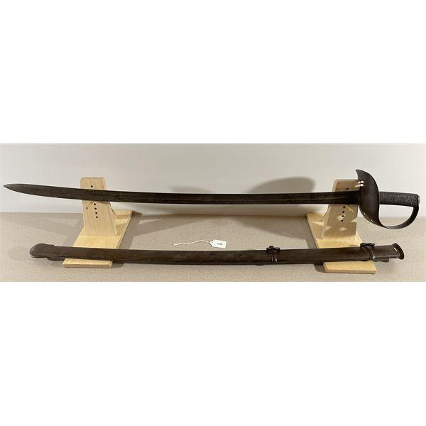 "BRITISH P.1864 CALVARY TROOPERS SABRE- 35.5"" BLADE"