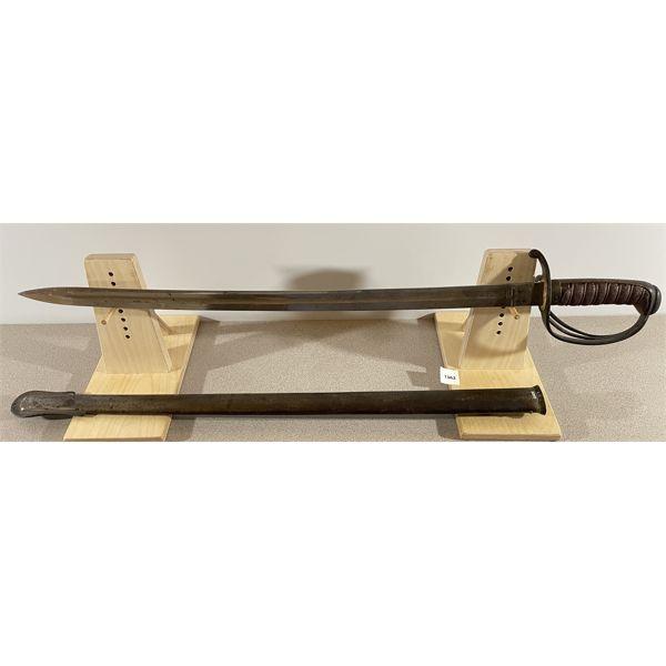 "BRITISH P.1821 ARTILLERY OFFICERS SWORD C.1850- 24.5"" BLADE"