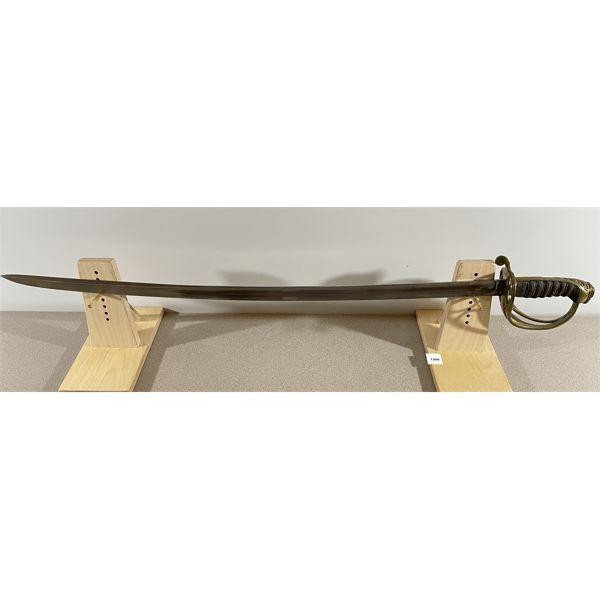 """BRITISH P.1854 INFANTRY SERGEANTS SWORD (QUILL-POINT) 32.5"""" BLADE"""