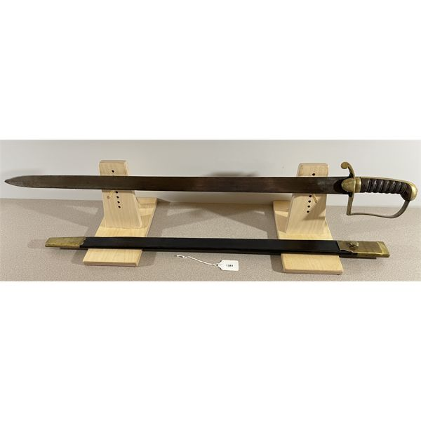 "BRITISH FOOT ARTILLERY PRIVATES SWORD C.1820 (LONG VERSION)- 29"" BLADE"