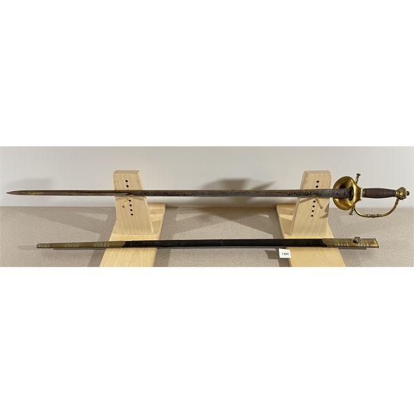 """BRITISH VICTORIAN COURT SWORD C.1880- 30.5"""" BLADE"""