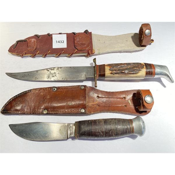 LOT OF 2 - BOWIE & KOLLER HUNTING KNIVES.