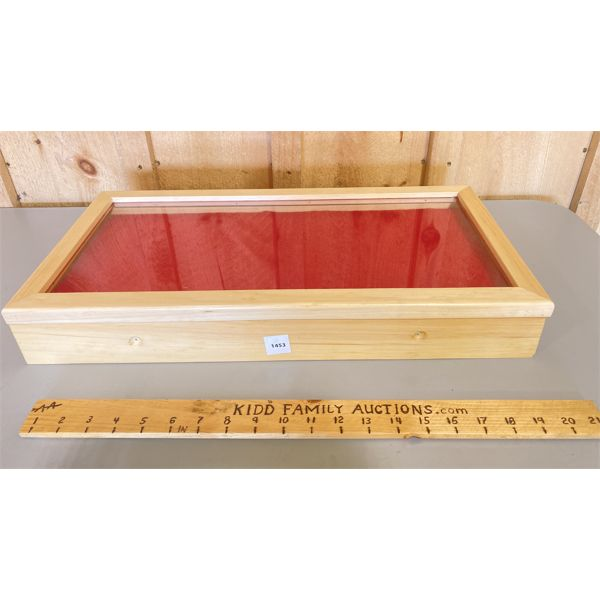 DISPLAY CASE - 3 X 10 X 21 INCHES