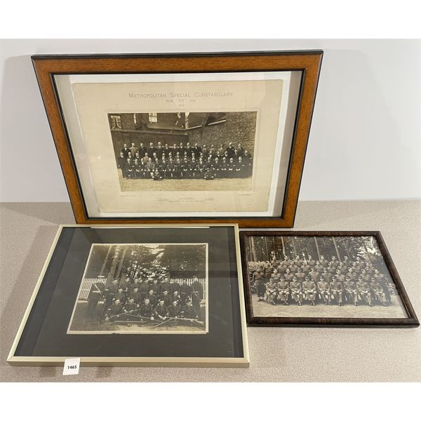 """LOT OF 3 - CONSTABULARY & REGIMENT PHOTOGRAPHS - EARLY 1900""""s"""