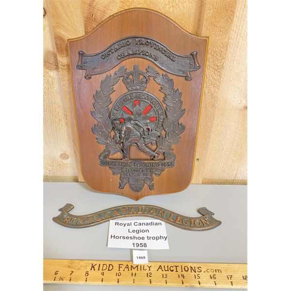 ROYAL CND LEGION - 1958 HORSESHOE TOURNAMENT TROPHY