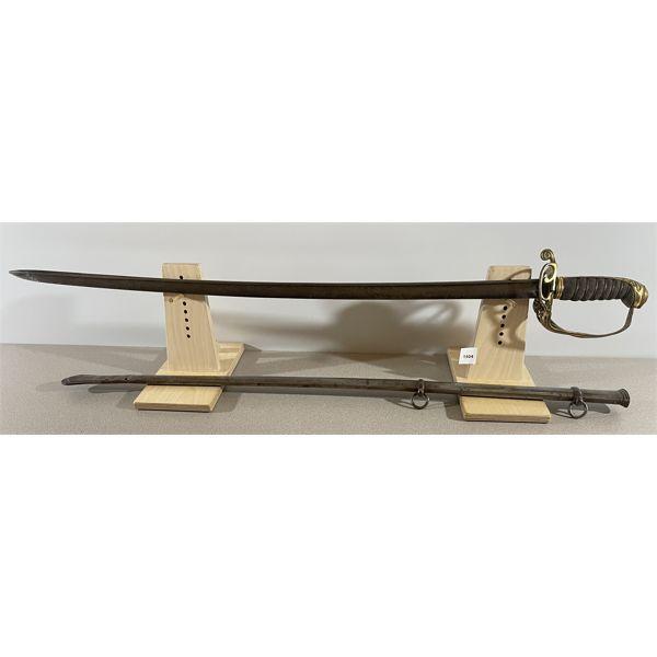 1822 INFANTRY ADJUTANT'S SWORD  (VR) - 32 INCH BLADE