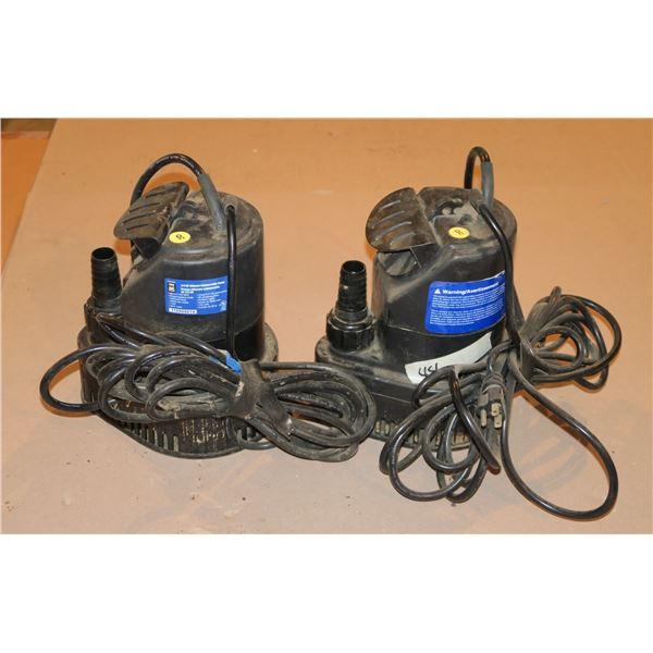 2 Submersible Pumps