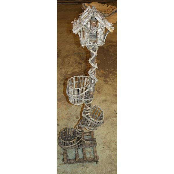 "47"" Decorative Birdhouse, handcrafted"