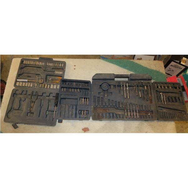 Partial Drill Bit/Driver Set & Partial 1/4 & 3/8 Socket set