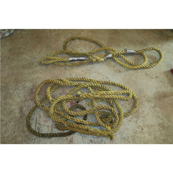 Two tow ropes (Damaged) Unknown Capacity