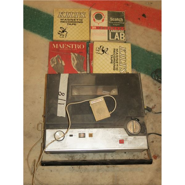 Reel to Reel Recorder w/ Mic & Tapes