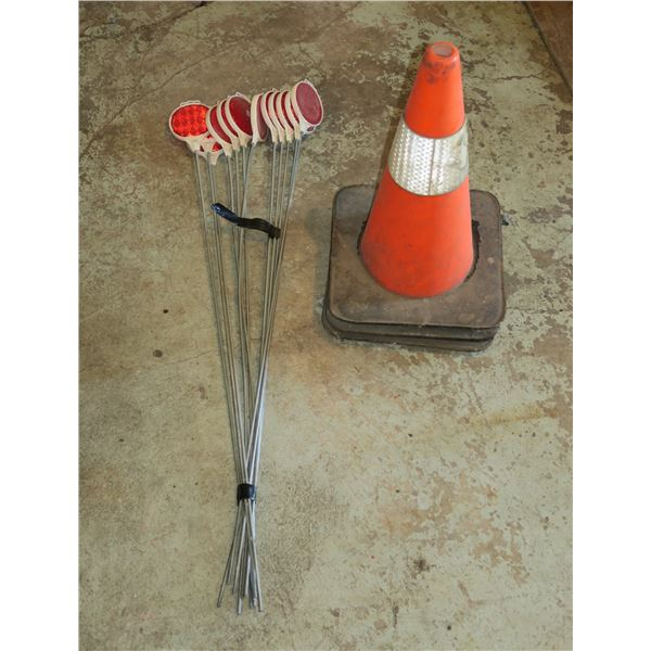 Lot of Pylons/ Reflective markers on rods