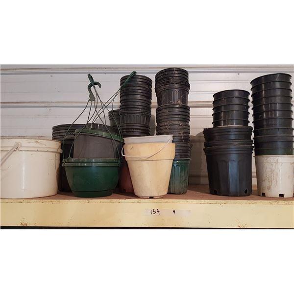 Large Lot Various Planters/Pots +Gardening Items