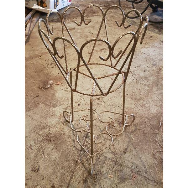 "Decorative metal pot holder 20"" tall"