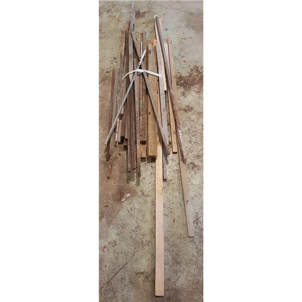 Lot of Garden Stakes + Lumber, various sizes