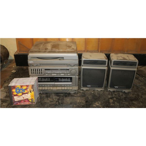 Yorx AM/FM/Record/Cassette Player + Speakers +CDS