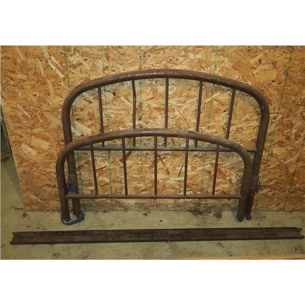 """Vintage Metal Bed Frame 48""""×40"""", Rails 74"""""""