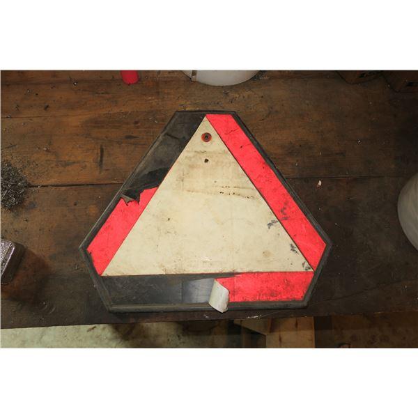 """Vintage Hazard Sign 15""""×17"""""""