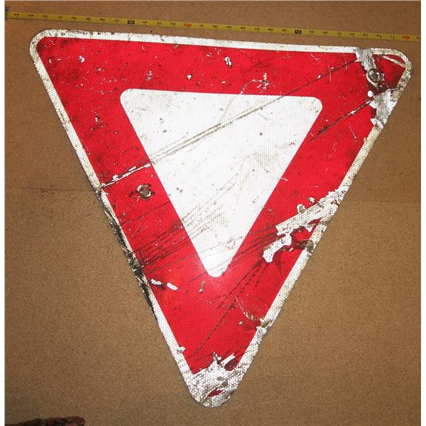 Vintage Yield Sign