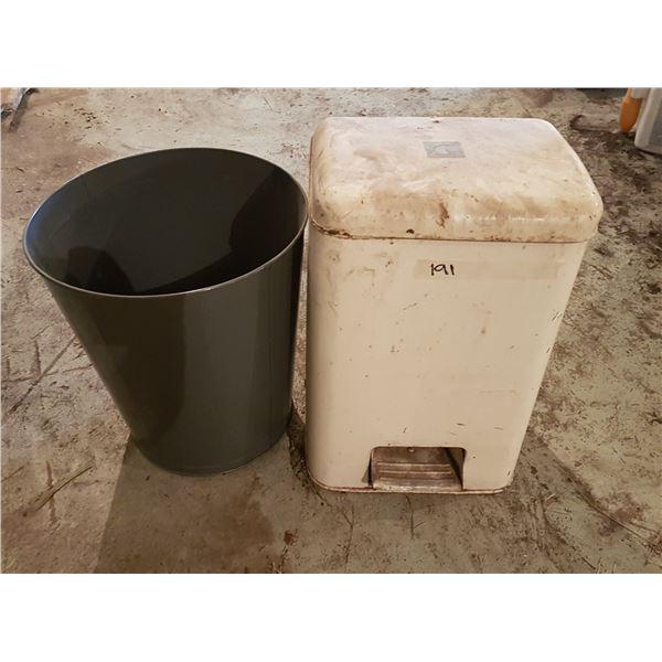 "2 Metal Waste Baskets 15""×19"""