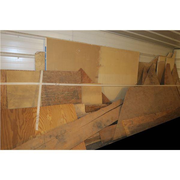 Lot of Scrap Plywood/Drywall etc.