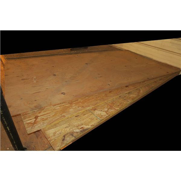 4×8 3/8 plywood + Two 4×8 3/8 OSB sheets