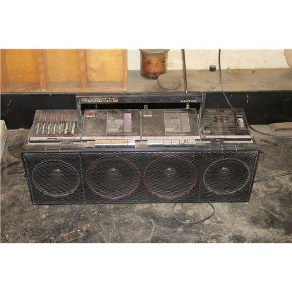 Lloyd's dual cassette stereo