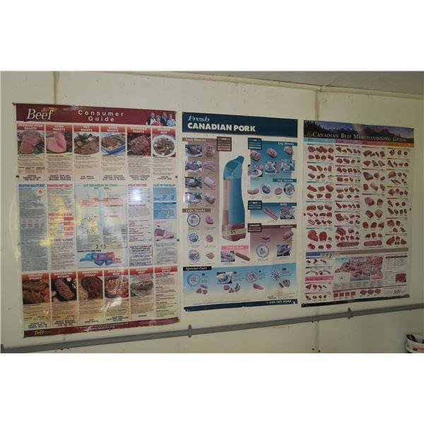 """4 Meat Merchandising Posters 27""""×37"""""""