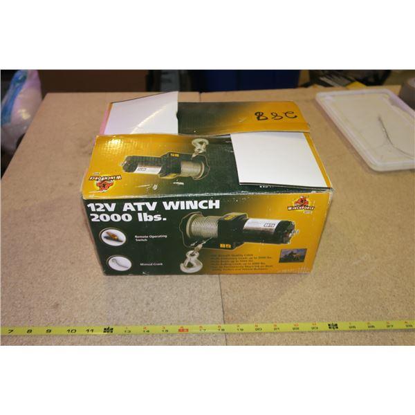 2000lb ATV Winch, new in box