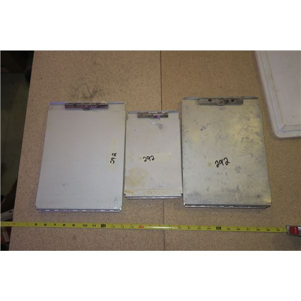 3 Metal Clipboards