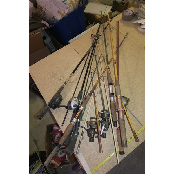 Lot Vintage Fishing Rods