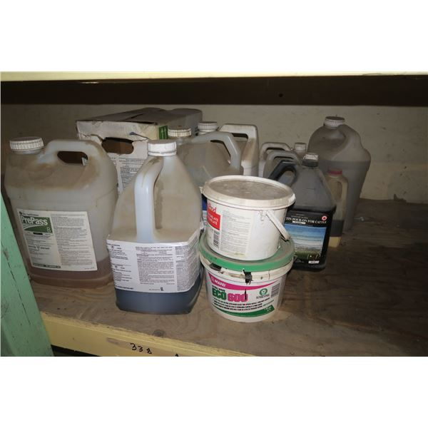 Lot of Agricultural/Gardening  chemicals, partial full