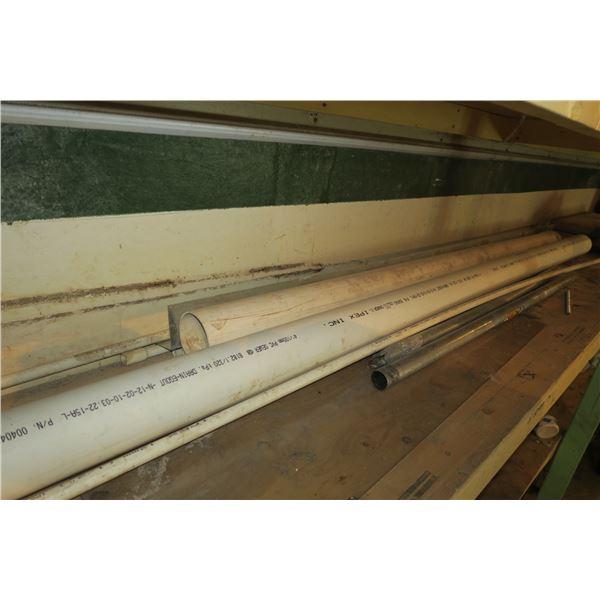 Lot of PVC, Galvanized pipe, Various length/Diameter