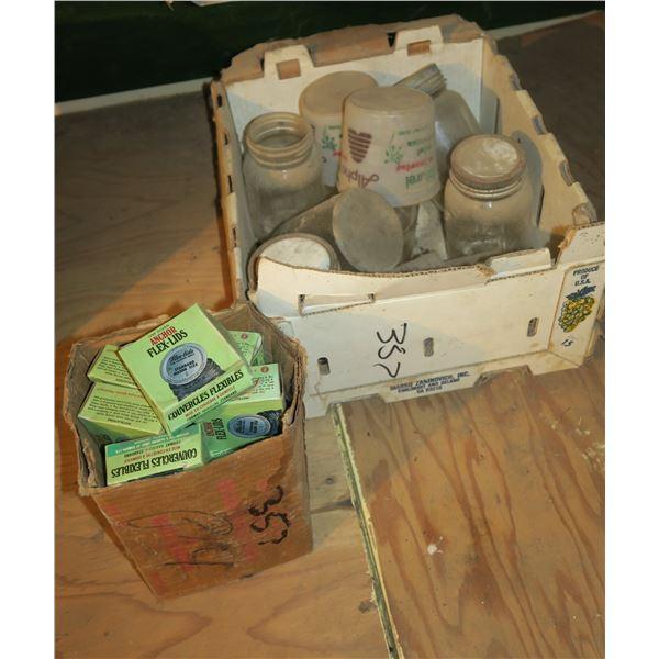Lot Sealer Jars & misc. + Box sealer lids