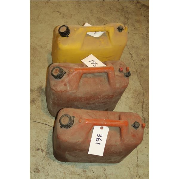 3 Gas/Diesel Cans