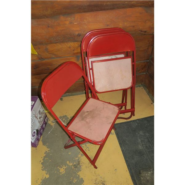 3 Folding Chairs, 1 damaged