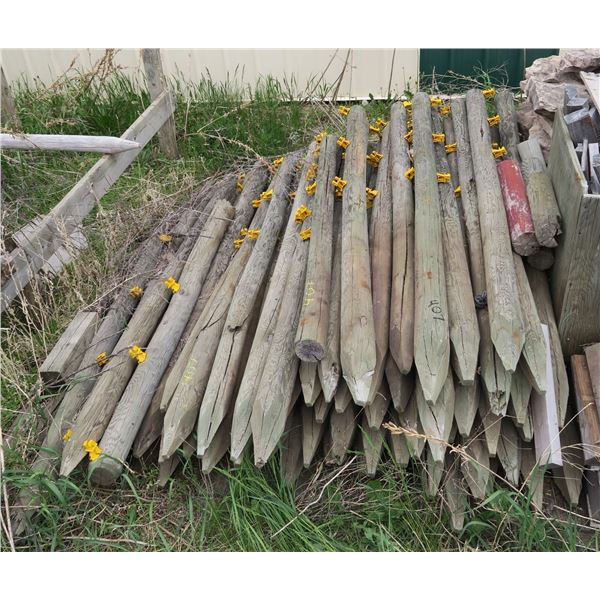 Lot of approx. 60 6' Fence posts