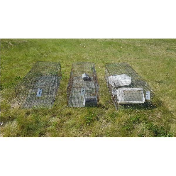 "3 Rabbit Cages 60""×22""×16"""