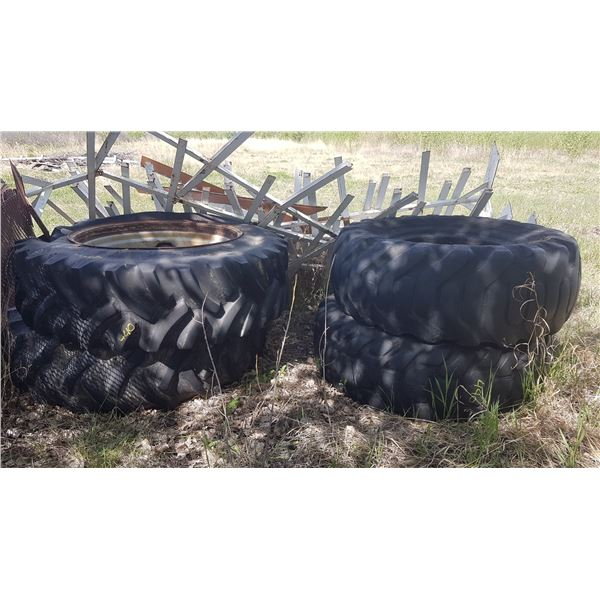 4 Tractor Tires, 2 with rims